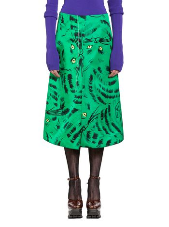 Marni Skirt in nylon twill with Hop print Woman