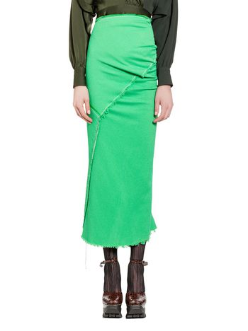 Marni Skirt in double viscose sablé with hanging threads Woman