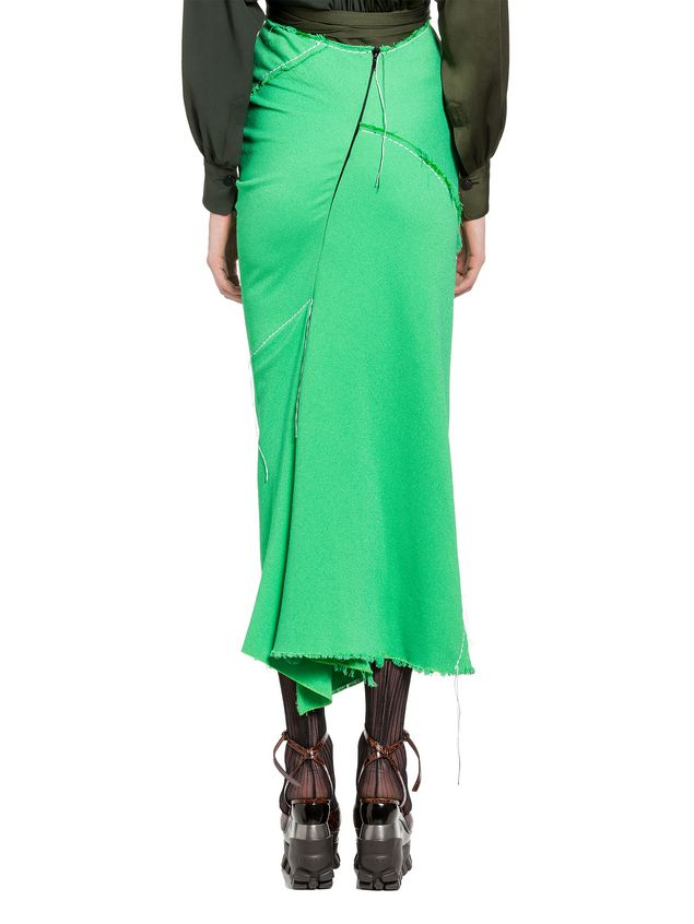 Marni Skirt in double viscose sablé with hanging threads Woman - 3