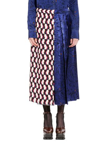 Marni Skirt in viscose satin with Joe print Woman