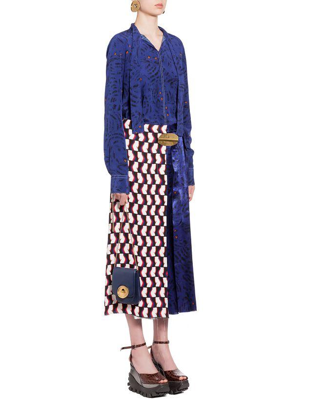 Marni Skirt in viscose satin with Joe print Woman - 4