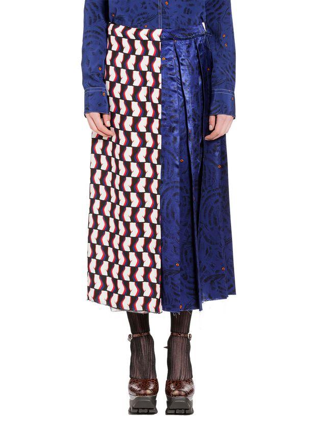 Marni Skirt in viscose satin with Joe print Woman - 1