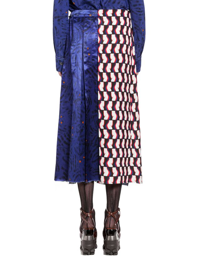 Marni Skirt in viscose satin with Joe print Woman - 3