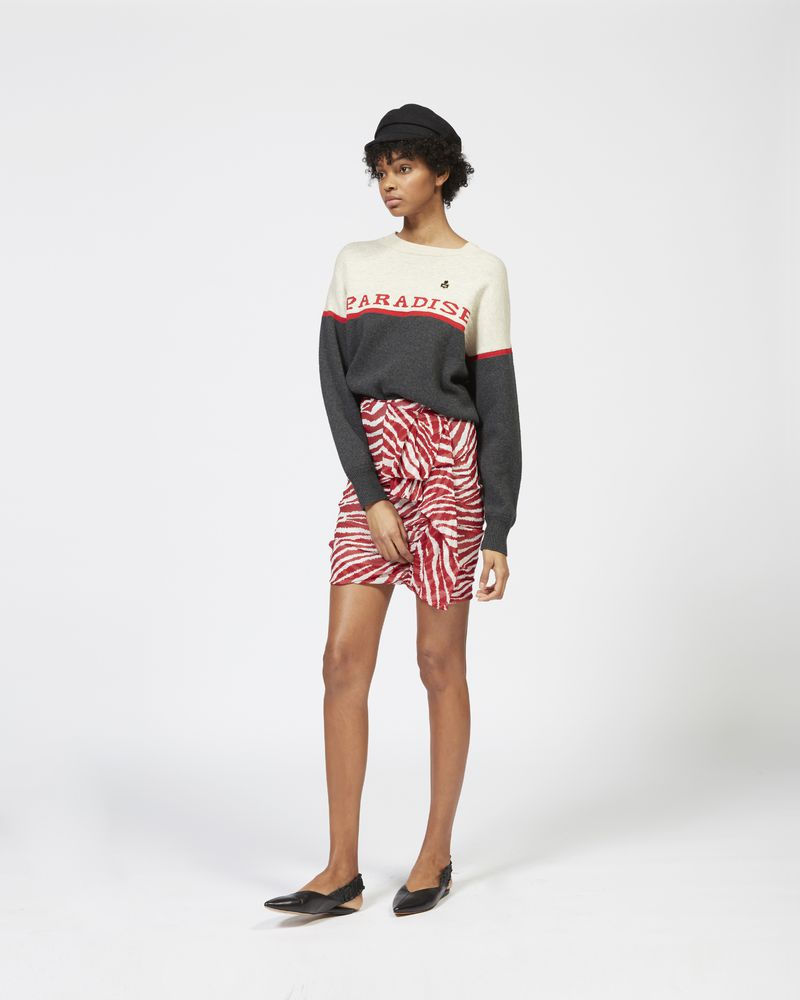JERINE short skirt in printed georgette ISABEL MARANT ÉTOILE