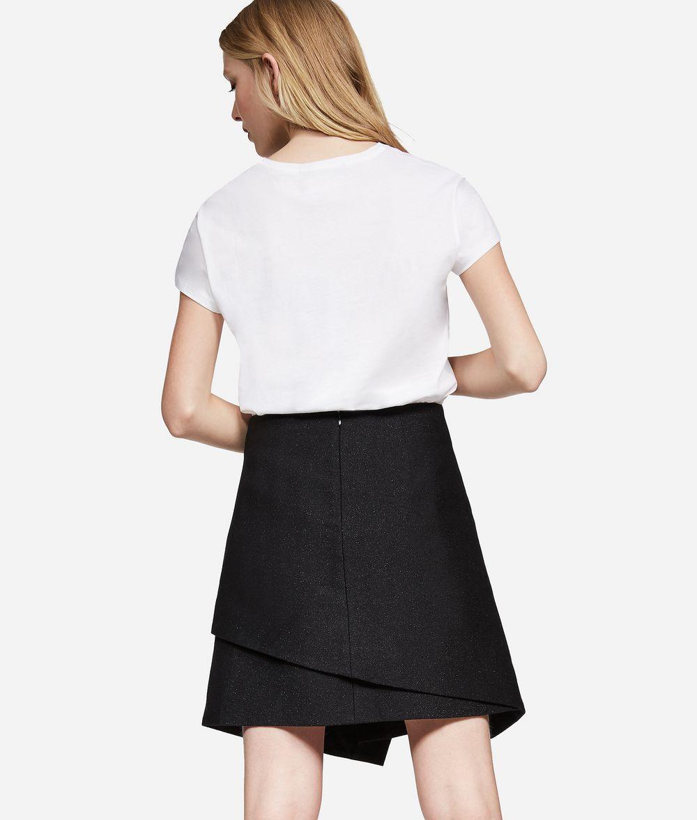 KARL LAGERFELD Metallic Cotton Twill Skirt Skirt Woman d