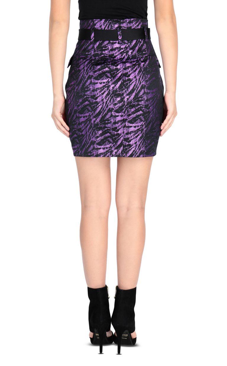 JUST CAVALLI Lurex mini skirt Skirt Woman d