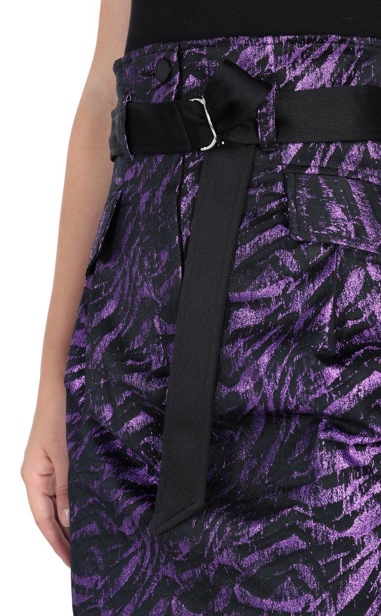 JUST CAVALLI Lurex mini skirt Skirt Woman e