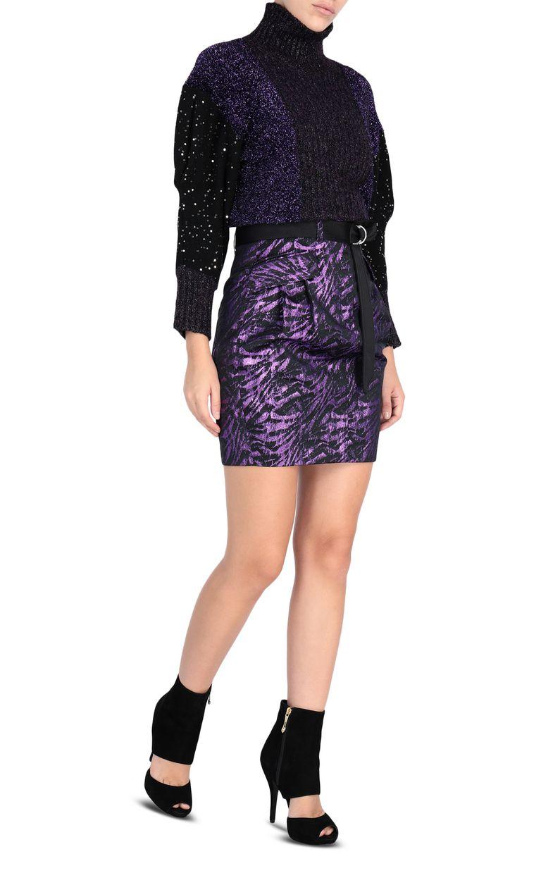 JUST CAVALLI Lurex mini skirt Skirt Woman r