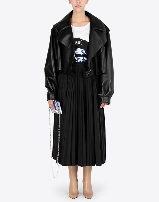 MAISON MARGIELA Long pleated skirt 3/4 length skirt [*** pickupInStoreShipping_info ***] d
