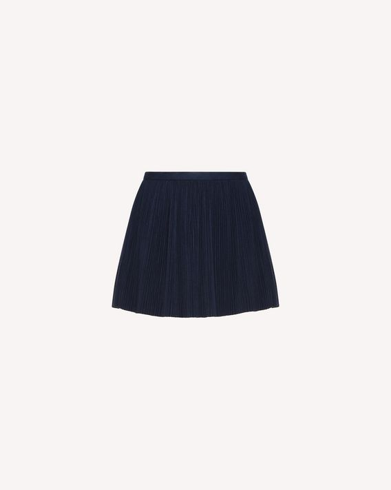 REDValentino Pleated shorts in Stretch Flannel