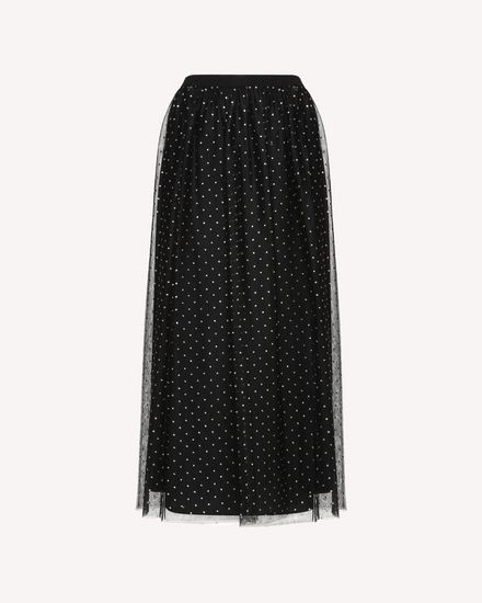 REDValentino Printed skirt Woman QR0RA38042H 0NO a