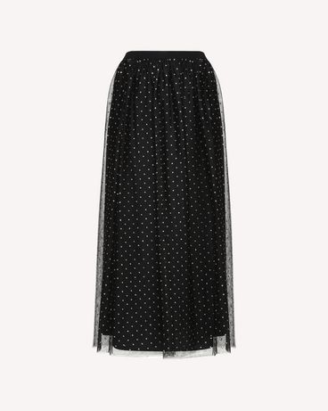 REDValentino QR0RA38042H 0NO Printed skirt Woman a