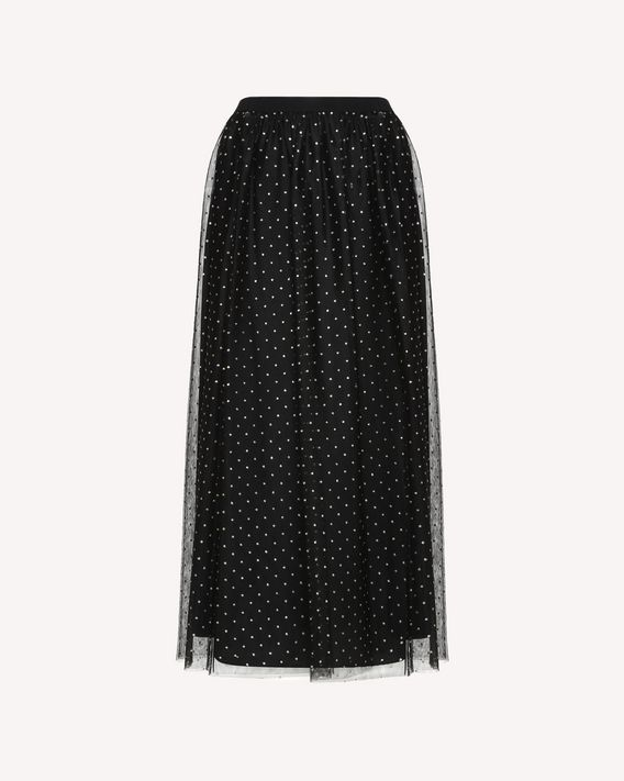 REDValentino Skirt in Glitter Polka Dot Tulle