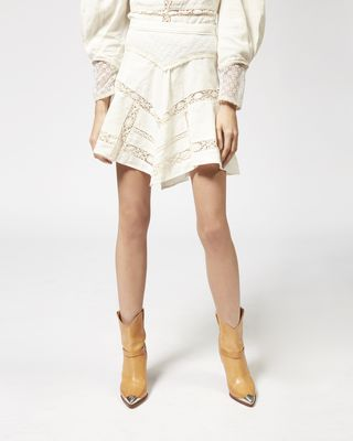 ISABEL MARANT SHORT SKIRT Woman LARA linen skirt r