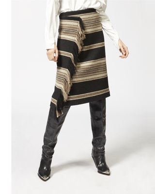 ISABEL MARANT MIDI SKIRT Woman HARDEN striped skirt r