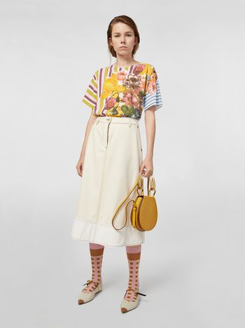 Marni Raw cotton drill skirt Woman