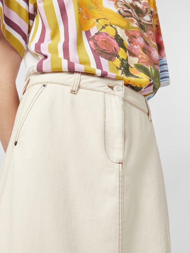 Marni - Raw cotton drill skirt - 5
