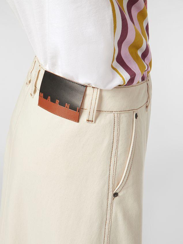 Marni - Raw cotton drill skirt - 4