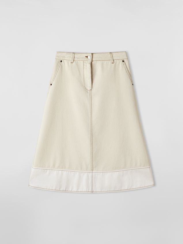 Marni - Raw cotton drill skirt - 2