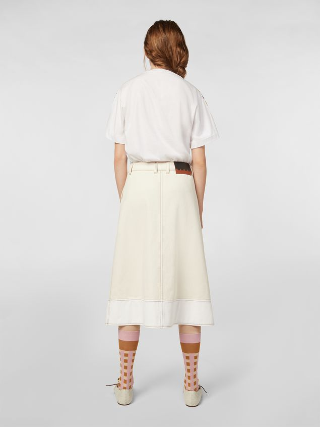 Marni - Raw cotton drill skirt - 3