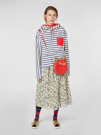 Marni Gonna dritta in voile di cotone stampa Maisie Donna