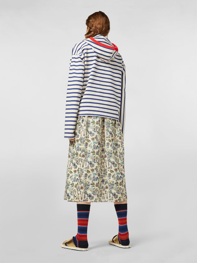 Marni Straight-cut skirt in cotton voile with Maisie print Woman - 3