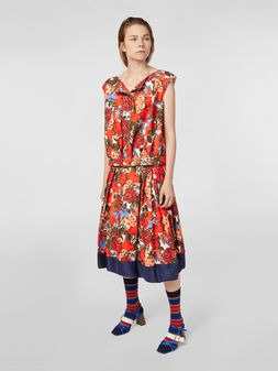 Marni Skirt in cotton cady with Duncraig print Woman