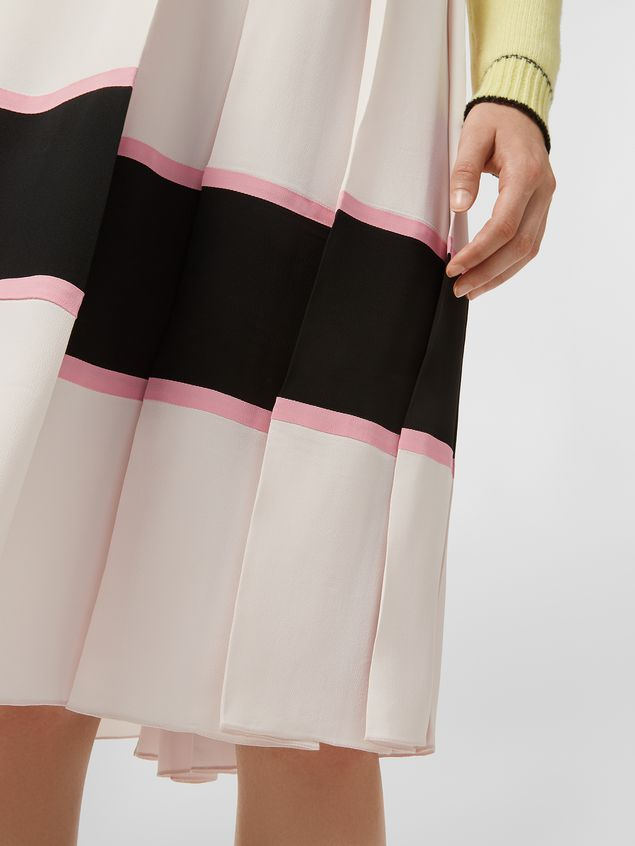 Marni Large-pleated skirt in washed crepe Woman - 4