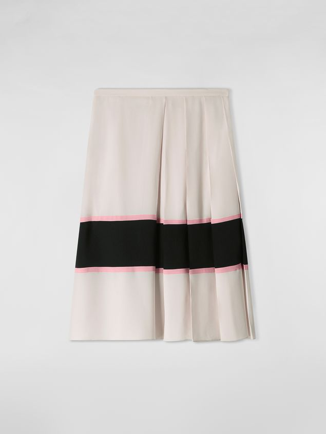 Marni Large-pleated skirt in washed crepe Woman - 2