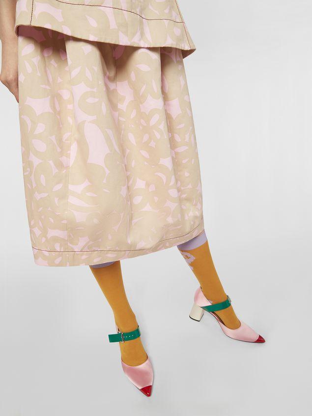 Marni Balloon skirt in cotton drill with Danna print Woman - 5