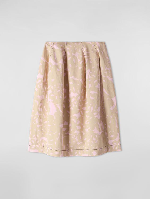 Marni Balloon skirt in cotton drill with Danna print Woman - 2