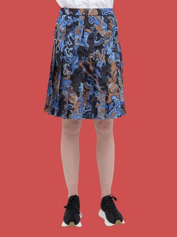 Marni Pleated skirt in light nylon with Dance Bunny print Woman