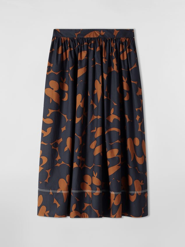 Marni Skirt in cotton poplin with Belou print and horn buttons Woman - 2