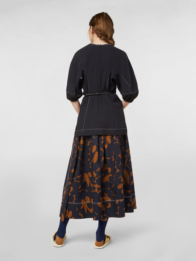 Marni Skirt in cotton poplin with Belou print and horn buttons Woman - 3