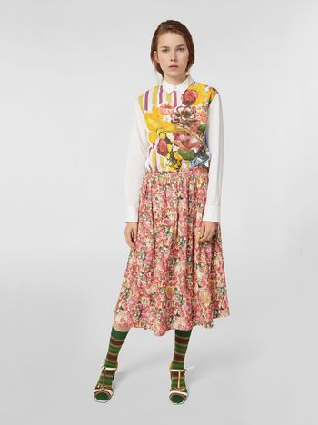 Marni Skirt in parachute techno fabric with Melville print Woman