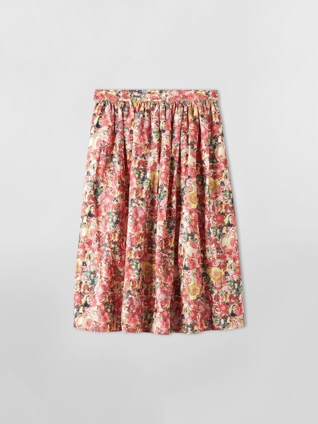 Marni Skirt in parachute techno fabric with Melville print Woman - 2