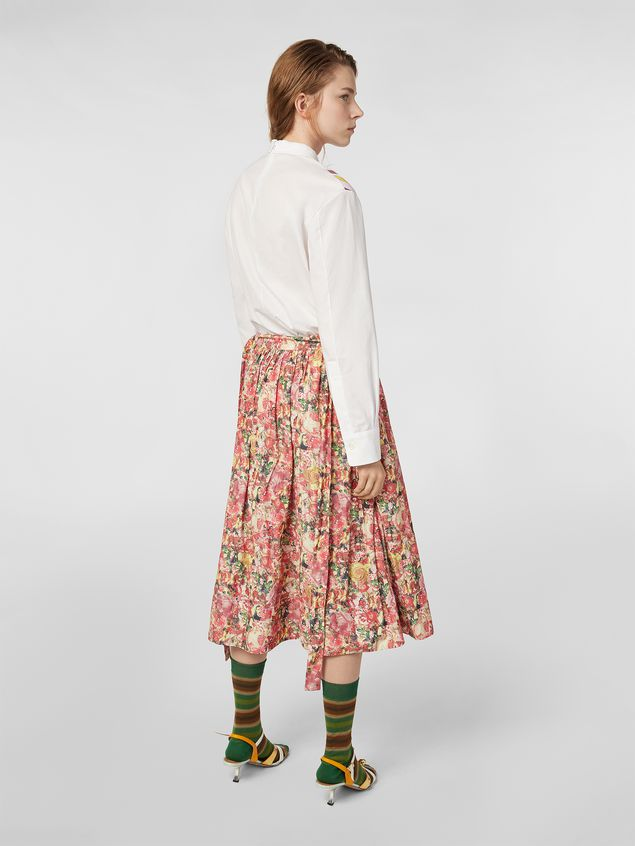 Marni Skirt in parachute techno fabric with Melville print Woman - 3