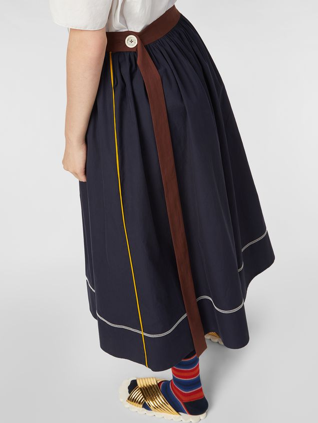 Marni - Skirt in cotton poplin with horn buttons - 4