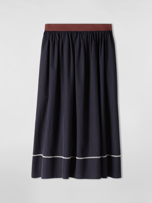 Marni - Skirt in cotton poplin with horn buttons - 2