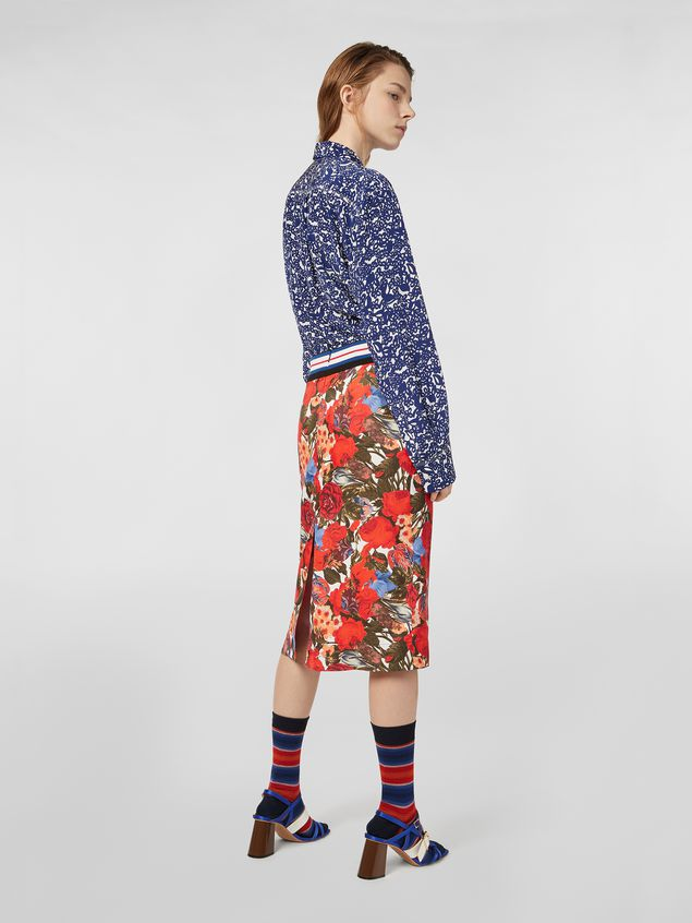 Marni Skirt in viscose twill with Duncraig print Woman
