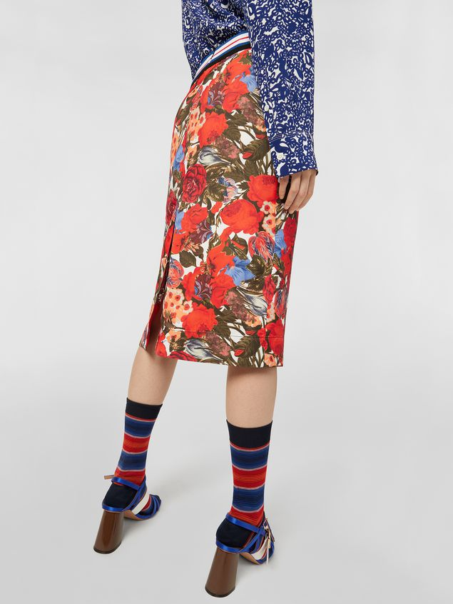 Marni Skirt in viscose twill with Duncraig print Woman - 5