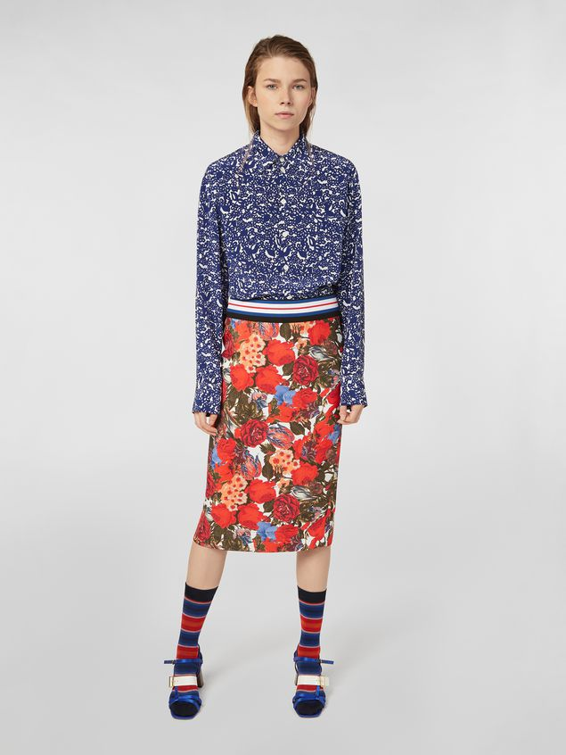 Marni Skirt in viscose twill with Duncraig print Woman - 1