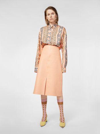 Marni Skirt in ostrich-print nappa lambskin Woman