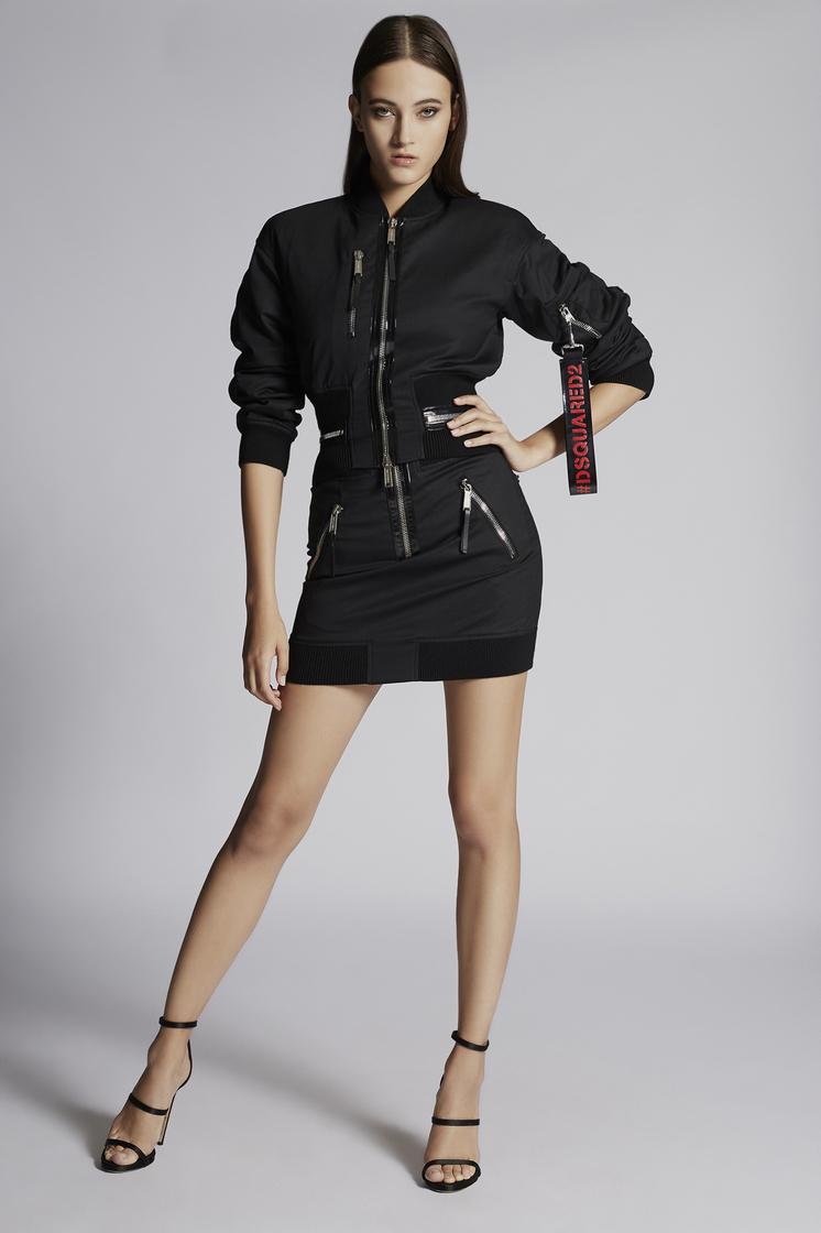 DSQUARED2 Chic Stretch Wool Aviator Mini Skirt Skirt Woman