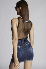 DSQUARED2 Blu Cadet Dalma Mini Skirt Denim skirt Woman