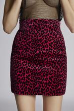 DSQUARED2 Leopard Velvet Mini Skirt Skirt Woman