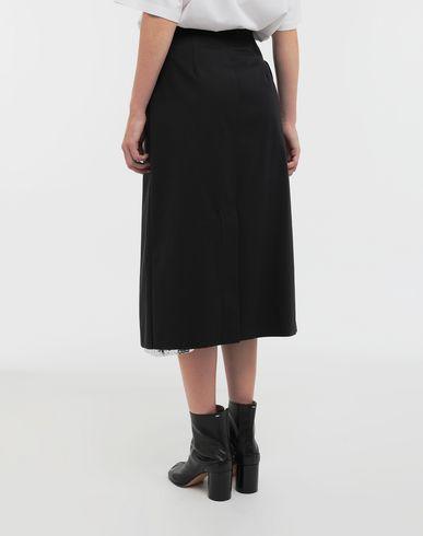 SKIRTS Double layer cotton-blend midi skirt