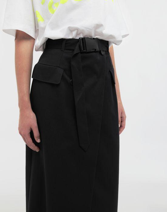 MAISON MARGIELA Double layer cotton-blend midi skirt 3/4 length skirt [*** pickupInStoreShipping_info ***] b