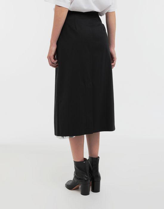 MAISON MARGIELA Double layer cotton-blend midi skirt 3/4 length skirt [*** pickupInStoreShipping_info ***] e