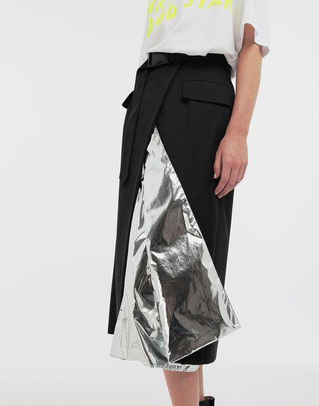 MAISON MARGIELA Double layer cotton-blend midi skirt 3/4 length skirt Woman a